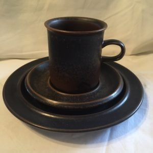 Ruska kahvikuppi, tassi, pullalautanen