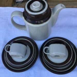 Kahvikuppi, tassi ja pullalautanen, Arabia, Karelia